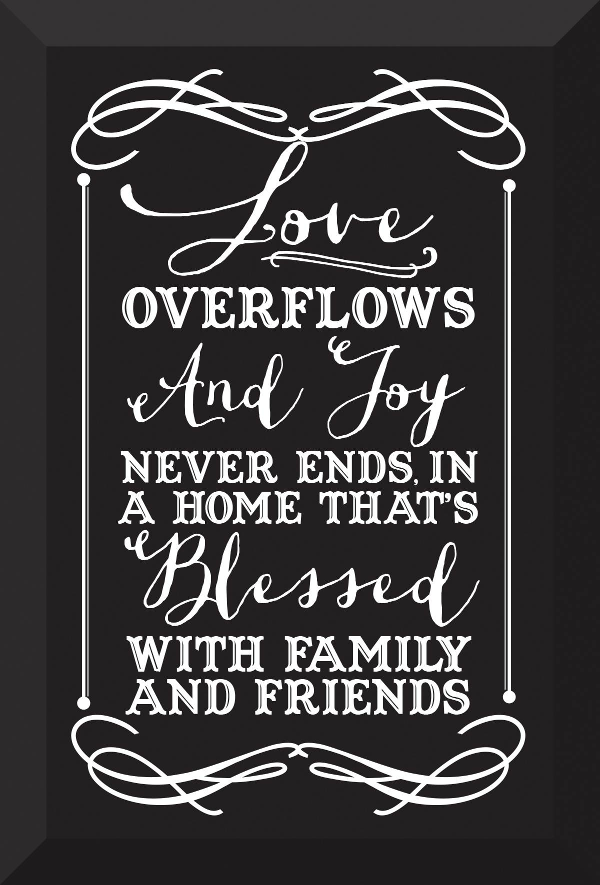 Love Overflows Glass Plaque