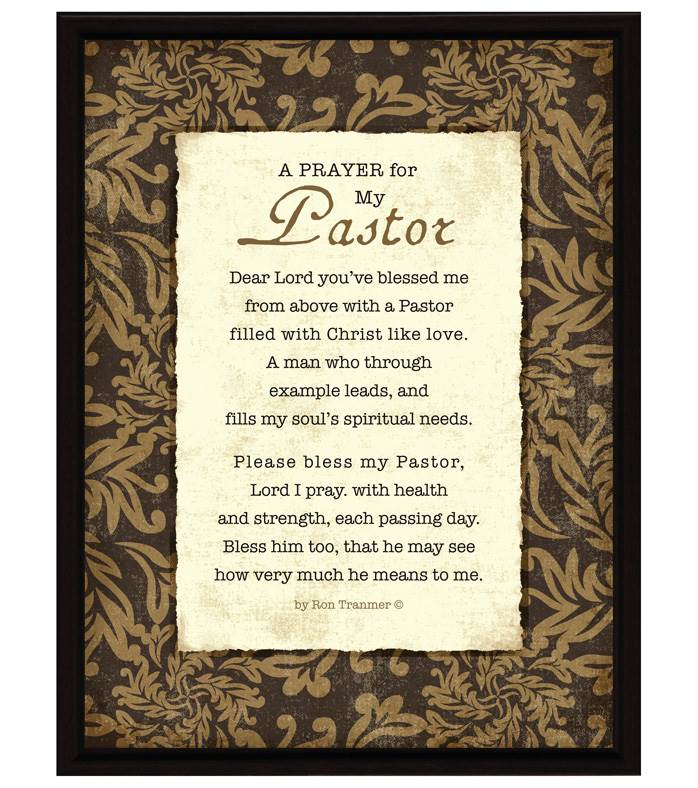 A Prayer For My Pastor Plaque