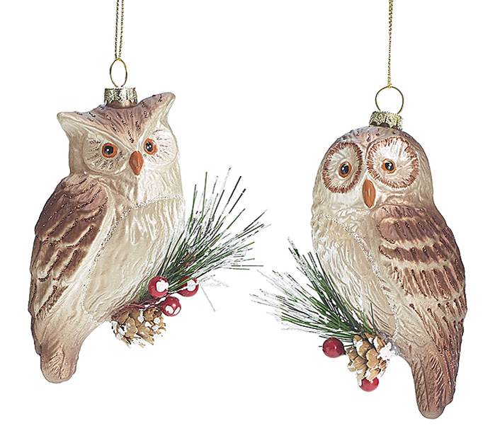 Assorted Glass Owl Ornament