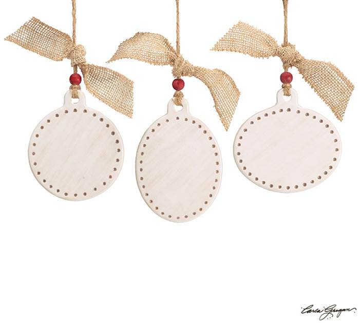 Assorted Ivory Ceramic Ornaments for Personalization *WHILE SUPPLIES LAST*