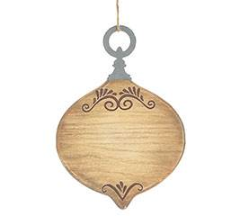 Wood Burn Design Ornament