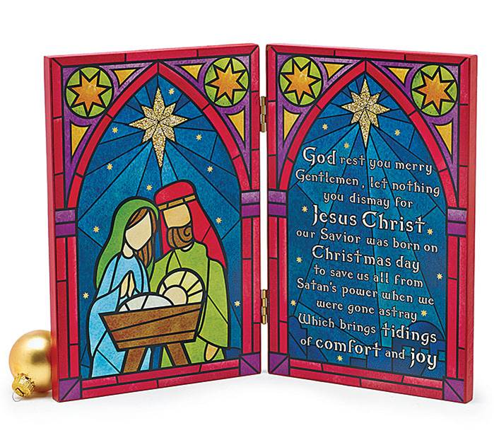 Nativity Desktop Plaque