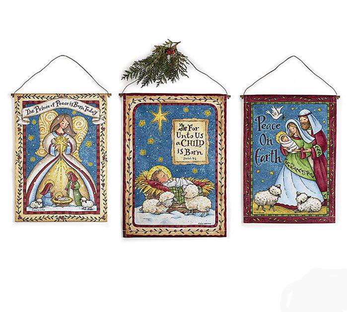 Assorted Nativity Wall Hangings