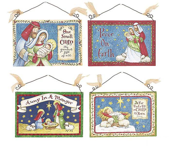 Assorted Tin Nativity Wall Hanging
