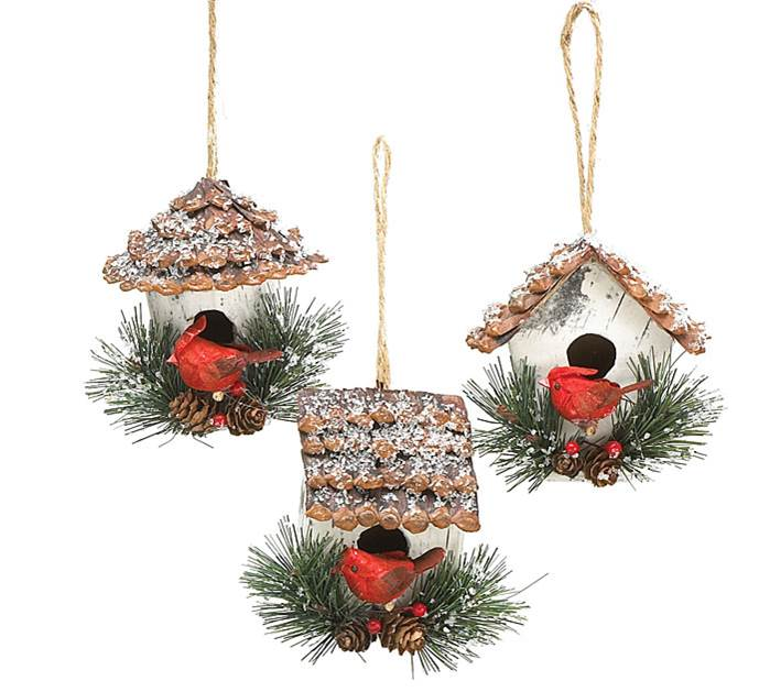 Assorted Birdhouse Ornaments