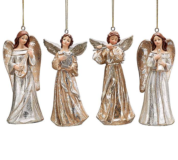 Assorted Resin Angel Ornaments