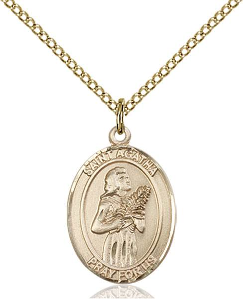 St. Agatha Necklace Sterling Silver