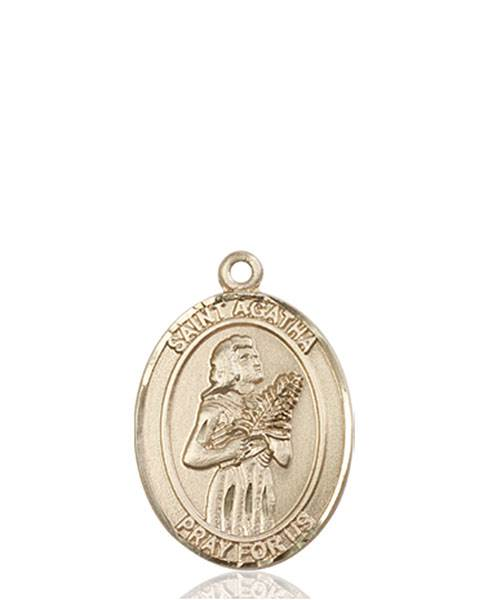 St. Agatha Necklace Solid Gold