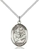 St. Anthony Necklace Sterling Silver