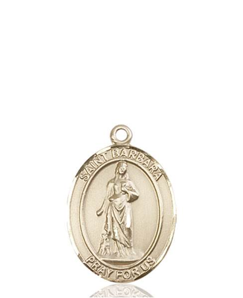 St. Barbara Necklace Solid Gold