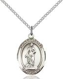 St. Barbara Necklace Sterling Silver