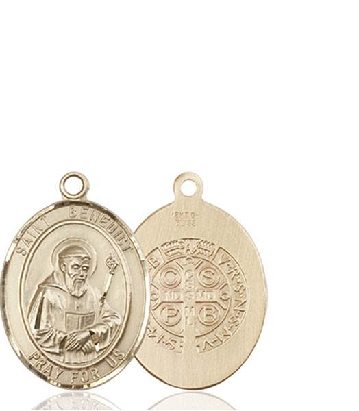 St. Benedict Necklace Solid Gold