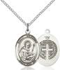 St. Benedict Necklace Sterling Silver