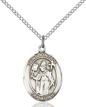 St. Boniface Necklace Sterling Silver
