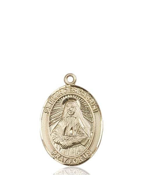 St. Frances Cabrini Necklace Solid Gold