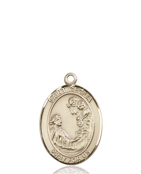 St. Cecilia Necklace Solid Gold