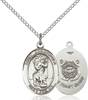St. Christopher / Coast Guard Pendant St. Christopher / Coast Guard ,Travelers , Hazards when traveling and Motorist.,Military,Coast Guard, sterling silver medals, gold filled medals, patron, saints, saint medal, saint pendant, saint necklace, 8022,7022 Coast Guard,9022 Coast Guard,