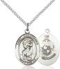St. Christopher / Marines Pendant St. Christopher / Marines ,Travelers , Hazards when traveling and Motorist.,Military,Marines, sterling silver medals, gold filled medals, patron, saints, saint medal, saint pendant, saint necklace, 8022,7022 Marines,9022 Marines,