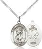 St. Christopher / National Guard Pendant St. Christopher / National Guard ,Travelers , Hazards when traveling and Motorist.,Military,National Guard, sterling silver medals, gold filled medals, patron, saints, saint medal, saint pendant, saint necklace, 8022,7022 National Guard,9022 National Guard,