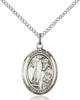 St. Elmo Pendant St. Elmo ,Stomach Diseases,Patron Saints,Patron Saints - E, sterling silver medals, gold filled medals, patron, saints, saint medal, saint pendant, saint necklace, 8031,7031,9031,7031SS,8031SS,9031SS,7031GF,8031GF,9031GF,
