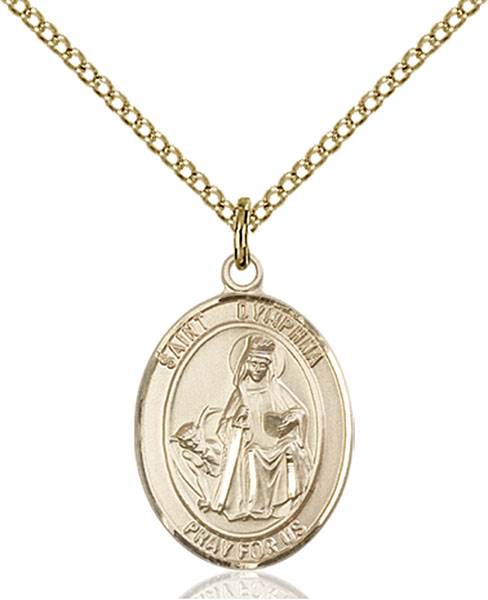 St. Dymphna Necklace Sterling Silver