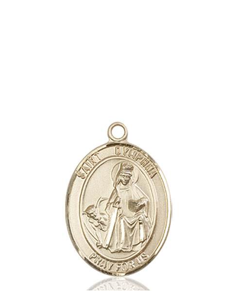 St. Dymphna Necklace Solid Gold