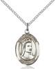St. Elizabeth of Hungary Pendant St. Elizabeth Of Hungary ,Bakers and Homeless,Patron Saints,Patron Saints - E, sterling silver medals, gold filled medals, patron, saints, saint medal, saint pendant, saint necklace, 8033,7033,9033,7033SS,8033SS,9033SS,7033GF,8033GF,9033GF,