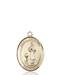 St. Genesius Necklace Solid Gold