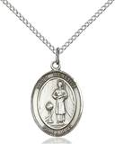 St. Genesius Necklace Sterling Silver