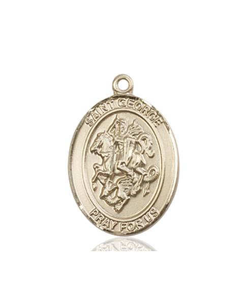 St.  George Necklace Solid Gold