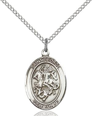 St.  George Necklace Sterling Silver