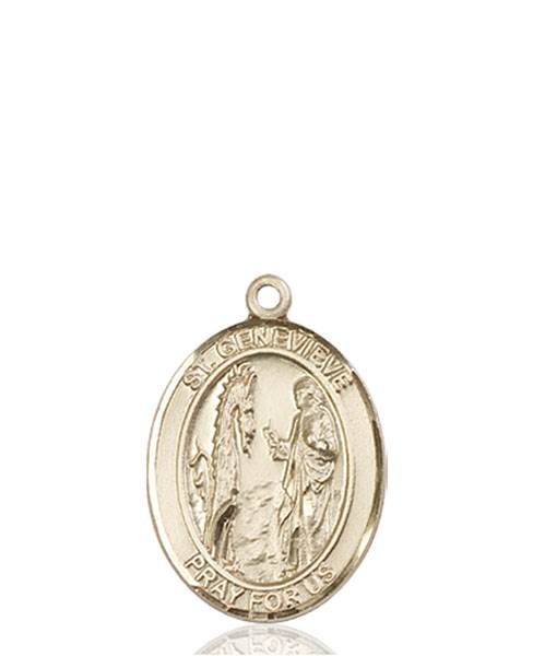 St. Genevieve Necklace Solid Gold