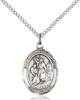 St. John The Baptist Pendant St. John The Baptist ,Auto Routes and Road Workers,Patron Saints,Patron Saints - J, sterling silver medals, gold filled medals, patron, saints, saint medal, saint pendant, saint necklace, 8054,7054,9054,7054SS,8054SS,9054SS,7054GF,8054GF,9054GF,