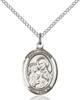 St. Joseph Pendant St. Joseph ,Carpenters and Dying and Fathers,Patron Saints,Patron Saints - J, sterling silver medals, gold filled medals, patron, saints, saint medal, saint pendant, saint necklace, 8058,7058,9058,7058SS,8058SS,9058SS,7058GF,8058GF,9058GF,