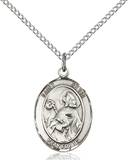 St. Kevin  Necklace Sterling Silver