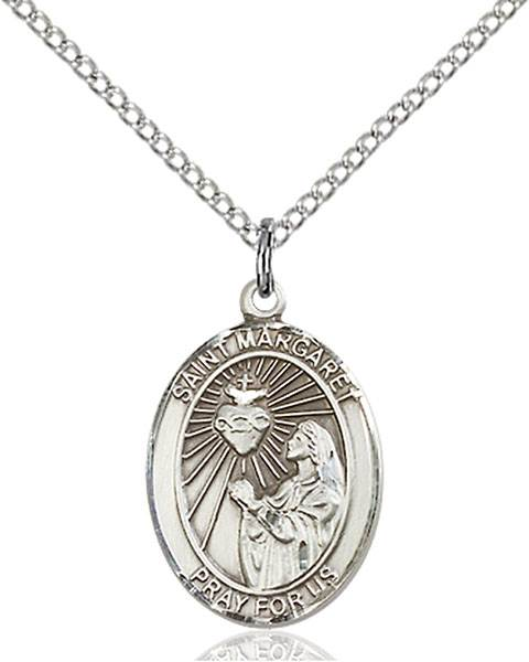 St. Margaret Mary Alacoque Pendant St. Margaret Mary Alacoque ,Polio and Loss of Parents,Patron Saints,Patron Saints - M, sterling silver medals, gold filled medals, patron, saints, saint medal, saint pendant, saint necklace, 8072,7072,9072,7072SS,8072SS,9072SS,7072GF,8072GF,9072GF,