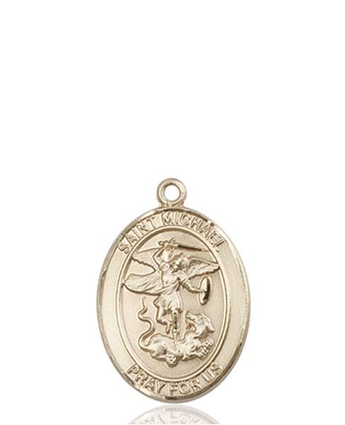 St. Michael Necklace Solid Gold
