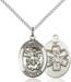 St. Michael Necklace Sterling Silver