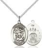 St. Michael / Air Force Pendant St. Michael / Air Force ,Police Officers and EMTs,Military,Air Force, sterling silver medals, gold filled medals, patron, saints, saint medal, saint pendant, saint necklace, 8076,7076 Air Force,9076 Air Force,