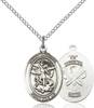 St. Michael / National Guard Pendant St. Michael / National Guard ,Police Officers and EMTs,Military,National Guard, sterling silver medals, gold filled medals, patron, saints, saint medal, saint pendant, saint necklace, 8076,7076 National Guard,9076 National Guard,