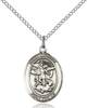 St. Michael The Archangel Pendant St. Michael The Archangel ,Police Officers and EMTs,Patron Saints,Patron Saints - M, sterling silver medals, gold filled medals, patron, saints, saint medal, saint pendant, saint necklace, 8076,7076,9076,7076SS,8076SS,9076SS,7076GF,8076GF,9076GF,