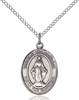 Virgen Milagrosa Necklace Sterling Silver