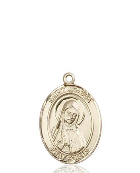 St. Monica Necklace Solid Gold
