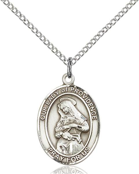Our Lady of Providence Pendant O/L Of Providence ,Puerto Rico,Our Lady And Miraculous,O/L of PROVIDENCE, sterling silver medals, gold filled medals, patron, saints, saint medal, saint pendant, saint necklace, 8087,7087,9087,7087SS,8087SS,9087SS,7087GF,8087GF,9087GF,