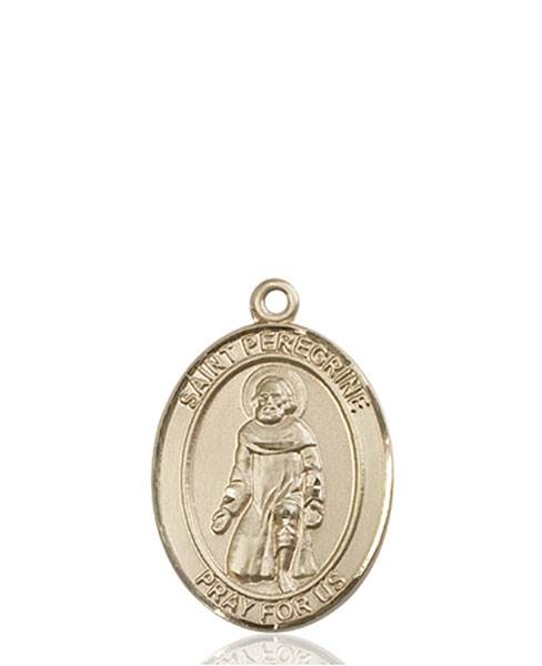 St. Peregrine Necklace Solid Gold