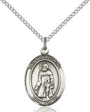 St. Peregrine Necklace Sterling Silver