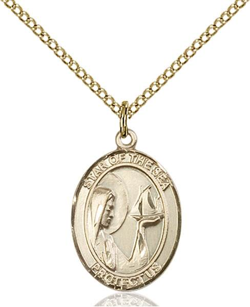 Our Lady of Star Necklace Sterling Silver