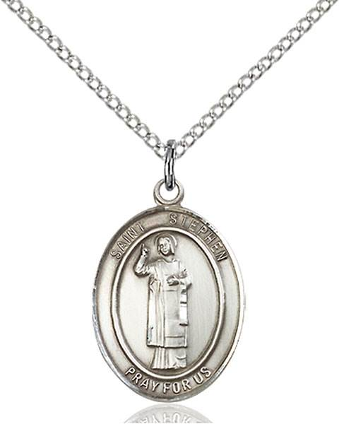 St. Stephen The Martyr Pendant St. Stephen The Martyr ,Deacons and Stonemasons,Patron Saints,Patron Saints - S, sterling silver medals, gold filled medals, patron, saints, saint medal, saint pendant, saint necklace, 8104,7104,9104,7104SS,8104SS,9104SS,7104GF,8104GF,9104GF,