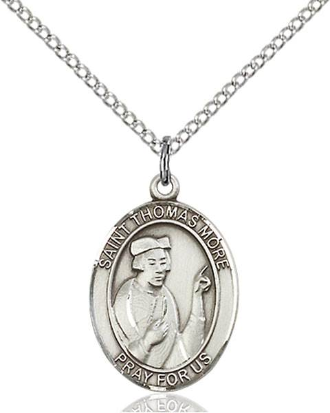 St. Thomas More Pendant St. Thomas More ,Lawyers and Statesmen,Patron Saints,Patron Saints - T, sterling silver medals, gold filled medals, patron, saints, saint medal, saint pendant, saint necklace, 8109,7109,9109,7109SS,8109SS,9109SS,7109GF,8109GF,9109GF,