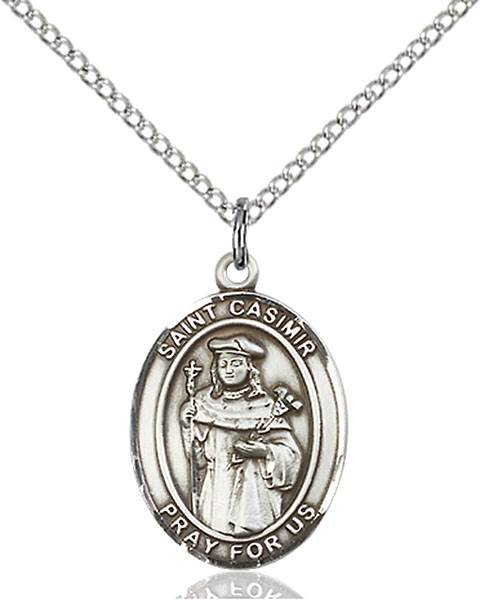 St. Casimir Necklace Sterling Silver
